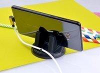 universal-silikon-gps-halter großhandel-Auto Ornament Universal Handyhalter 360 Grad-umdrehung PC + Silikon Auto Zubehör Armaturenbrett Dekoration Für GPS Halter Telefon