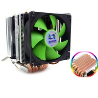 Wholesale cooler avc for sale - Group buy 3 Lines Heat Pipe CPU Heatsink AVC Pure Copper AMD Desktop Computer CPU Cooler Constant Speed Single Double Wind