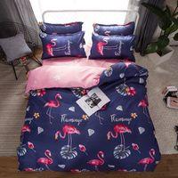 kırmızı gül kral yorgan seti toptan satış-Bir Nevresim Set 3D Yağlıboya Yatak bir Çanta içinde 4 adet / takım Yatak Seti kırmızı gül Yorgan Çanta Nevresim ücretsiz kargo