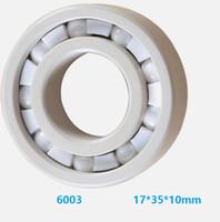 ingrosso cuscinetti a sfere-6pcs / 10pcs trasporto libero Zirconia Oxide cuscinetti radiali a sfere di ceramica 6003 ZrO2 pieno 17x35x10mm cuscinetto di ceramica 17 * 35 * 10mm