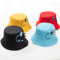 Wholesale toddler boy fitted for sale - Group buy Dinosaur Baby Hat Cotton Double sided Bucket Hat Baby Spring Autumn Cap Kids Hats Toddler Baby Accessories Beach Hat MMA2054