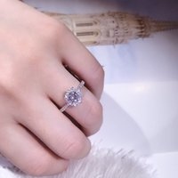 Wholesale luxury sterling silver rings for sale - Group buy TSHOU144 Luxury Female White Bridal Wedding Ring Fashion Sterling silver Jewelry Promise CZ Stone Engagement Rings For Women