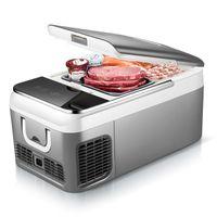 congélateur de voitures achat en gros de-18L voiture compresseur frigo DC 12V 240V voiture réfrigérateur congélateur refroidisseur pour la maison pique-nique réfrigération congélateur -20 ~ 10 degrés