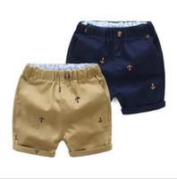 ropa de anclaje al por mayor-2 estilos Ins New Baby Shorts boys Ship Anchor Imprimir ins short summer baby kids comfortale Boutique 100% algodón Ropa