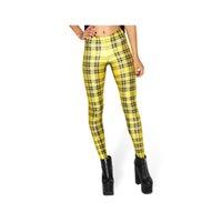 usar pantalones a cuadros de las mujeres al por mayor-Polainas de las mujeres Amarillo Plaid 3D Digital Impreso Completo Completo de Yoga Desgaste Pantalones Lady Stretchy Pencil Fit Girls Pantalones de entrenamiento (RLLgs3263)