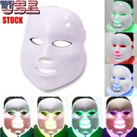 Wholesale good masks for face resale online - 7 Color Light Photon LED Facial Mask Electric Face Skin Care Rejuvenation Therapy Good For Anti aging Anti Acne