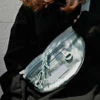 маленькие сумки для талии оптовых-19ss коробка логотип печатных талии мешок High Street хип-хоп диагональ пакет путешествия крест тела небольшой пакет сумки карманы груди сумки HFYMBB068