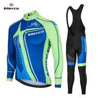manga longa mtb jersey verão venda por atacado-2020 Pro Team Coodoopai Ciclismo Jersey Homens Mtb Ciclismo vestuário Summer Long Sleeve Triathlon Mountain Bike Bib Pant Set