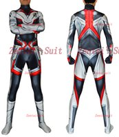 Wholesale zentai hero cosplay for sale - 2019 New Endgame Quantum Realm Costume High Quality Avengers Cosplay Costumes D Printed Zentai Bodysuit For Adult Kids