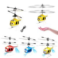 elektrischer hubschrauberkreisel großhandel-Heißer Verkauf Mini Infrarot Sensor Hubschrauber Flugzeuge 3D Gyro Helicoptero Elektrische Micro Hubschrauber Geburtstag Spielzeug Geschenk für Kind # 257747