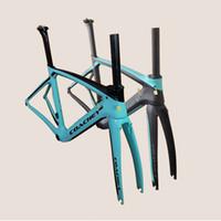 größe rennrad headset großhandel-COACHEY xr4 neues modell carbonstraßenrahmen T1000 UD vollcarbonstraßen-fahrradrahmen, carbongröße 47/50/53/55 / 57cm