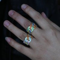494779f076 cool couples jewelry NZ - rainbow colorful cz men jewelry ring engagement  band hip hop Rock