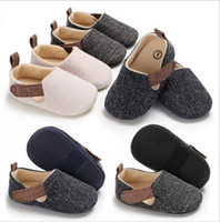 Wholesale baby moccasins online - 3 Colors kids shoes Baby sports canvas toddler soft sole first walker sneakers kids running shoes Footwear Prewalker Moccasins walking shoes