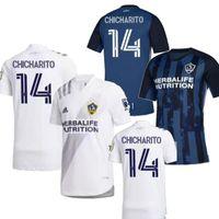 Wholesale la galaxy away jersey for sale - Group buy Size S XL Los Angeles LA Galaxy Home white Away blue CHICHARITO Men soccer jersey LLETGET GIOVANI DONOVAN Football shirt