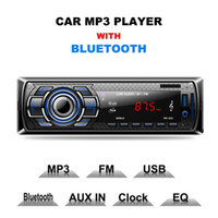 Wholesale remote mp3 player resale online - Original Multifunction Styling Car MP3 Player Car DVD SD Card Reader USB With Bluetooth Panel FM Tuner Aux In Remote Control