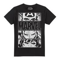 ojos de hombre de hierro al por mayor-Marvel Heroes Eyes Light Camiseta para hombre Capitán América Iron Man Hulk Camisetas divertidas Hipster O-Cuello Tops geniales Hip Hop Manga corta