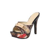frauen größe 33 fersen groihandel-2019Maguidern Marke Frauen Slipper Sandalen Heels Wedges Peep Toe Elegante Weibliche Sandalen Damen Mules Sommer Schuhe größe 33-43