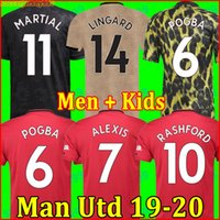 Wholesale soccer kit jersey uniforms resale online - Thailand FC manchester POGBA soccer jersey LINGARD RASHFORD football shirt united UtD uniforms MAN jerseys men kids kit sets