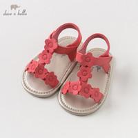 ingrosso sandali rossi infantili-DB10246 Dave Bella sandali bambina estate nuovi prewalker neonati scarpe bambina sandali rossi scarpe da principessa floreali
