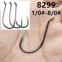 200pcs 1 0#-8 0# 8299 Octopus Hook High Carbon Steel Barbed Fishing Hooks Fishhooks Pesca Carp Fishing Tackle Accessories FS_24