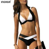 ingrosso o bikini-La nuova vendita calda di estate sexy delle donne sexy del progettista del bikini delle donne di modo due costumi da bagno del costume di trasporto mostra i vestiti sottili