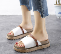 5db5db8c2bc7 Wholesale korean platform sandals online - 2019 summer Korean version of  the new middle with slippers