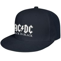Wholesale band snapback for sale - Group buy ACDC back in black rock band Snapback Ball Cap Low Profile Cotton Caps Rugged Unisex Mens Womens Hats