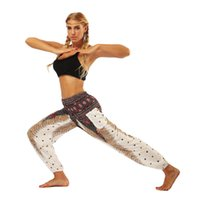 Wholesale galaxy yoga pants for sale - Group buy JIGERJOGER Red mandala circle galaxy floral Printed stretchy High rise Straight Loose leggings lounge Bloomers pocket yoga pants