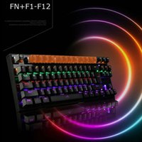 teclado de compras al por mayor-Juego Teclado mecánico Retroiluminado USB Cableado 26 teclas Anti-fantasma Juego Teclado NK-Shopping