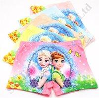 sevimli çizgi film külot toptan satış-Güzel Karikatür Kızlar Külot Dondurulmuş Snow Queen 3D Baskılı Çocuk Pamuk Boksörler Çocuk İç Giyim Sevimli Çocuk Külot İçin Çocuklar 2-8 Yıl A112601