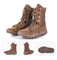 ingrosso scarponi da caccia leggeri-Outdoor Tactical Sport Super leggero scarpe da trekking da uomo Maschio Outdoor Winter Caccia Boots Scarpe da montagna Uomo Army Boot