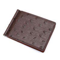 ingrosso portafoglio di struzzo per gli uomini-Modello Portafoglio in pelle Bifold uomo Slim Denim Portafoglio porta carte di credito