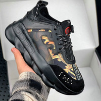 Wholesale thick chain men for sale - Group buy 2019 Men Casual Shoe Fashion Luxury Height Increasing Chains Sneakers Comfort Shoe Woman Thick Platform Creepers Female Casual Flats Tennis