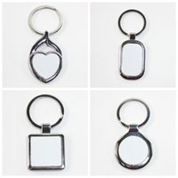 Wholesale customized key chains resale online - Customized Blank Key Chain High Quality Sublimation Blanks Key Buckle Metal Buckle Valentine Day Gifts Multi Style krH1