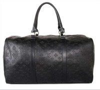 7e5584d818 2019 men duffle bag women travel bags hand luggage luxury brand designer  travel bag men pu leather handbags large cross body bag totes 55cm