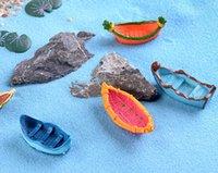 ingrosso paesaggio matrimonio-10 pz wedding Boat paddle fairy garden terrario figurine miniature mini jardin micro paesaggio ornamenti decorazioni acquario