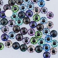 12mm glasaugen großhandel-2mm runde gemischt zufällige drache augen in paar glas cabochon flatback foto cabochons für charme basis zubehör 50 teile / los k06007 12mm runde ...