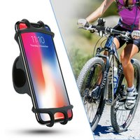 Wholesale motor phone holder online – Bicycle Phone Holder Silicone Soft Bike Handlebar Clip Stand GPS Mount Bracket For iPhone Samsung Mountain Motor