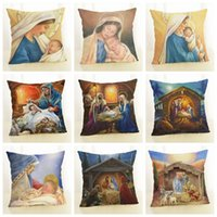 Wholesale red couches for sale - Group buy winter decoration sofa bed couch throw pillow case Christmas cushion cover cm linen cojines home decor