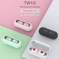 auscultadores sem fios para telemóveis venda por atacado-Alta Qualidade TW10 TWS Mini Wireless Headphones Fones de ouvido Fones de ouvido Bluetooth Estéreo 5.0 som de alta fidelidade i9s Siri PK para Android e iOS Celular