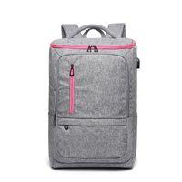 sac à dos pour ordinateur portable achat en gros de-Ordinateur portable sac à dos ordinateur de voyage sac pour hommes et femmes anti-vol résistant à l'eau collège cartable scolaire sac à dos d'affaires avec USB
