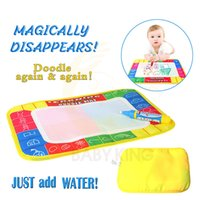 Wholesale magic doodle pens resale online - Funny Magic Water Drawing Coloring Book Doodle Mat with Magic Pen Painting Drawing Board For Kids Toys Birthday Gift