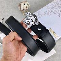 automatische linien großhandel-Europa und die Vereinigten Staaten meistverkauften Luxusgürtel klassischen Medusa Head Männer Casual Business Gürtel Seiko Auto Linie keine Box