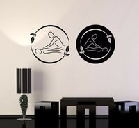 Wholesale massage rooms for sale - Group buy Spa Massage Therapy Vinyl Wall Decal Beauty Logo Relax Stickers Removable Room Decoration Art Mural Salon Decals Poster