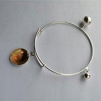 pulseira pequenos sinos venda por atacado-Sublimação em branco pequeno sino charme pulseiras hot transferência impressão pulseira diy consumíveis New arrvial