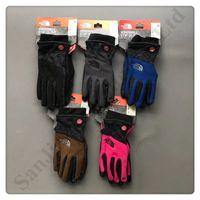 su geçirmez bisiklet eldivenleri toptan satış-Unisex Fleece Dokunmatik Ekran Eldivenler Kış erkek eldivenleri Kuzey Su geçirmez rüzgar geçirmez Sıcak Eldivenler Marka Telefingers Yüz Bisiklet Eldiven C92601