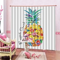 Wholesale window paintings resale online - Art Painting Colored pineapple Curtain for Living room Children s room Blackout Curtains