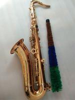 Wholesale saxophone paintings for sale - Group buy Gold Saxophone Tenor saxophone B Flat Yanagisawa T High grade paint gold quality
