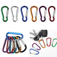Wholesale convenient key rings for sale - Group buy Carabiner Ring Keyrings Key Chains Outdoor Sports Camp Snap Clip Hook Keychain Hiking Aluminum Metal Convenient Hiking Camping Clip DHF109