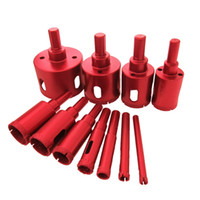 Wholesale diamond drill bit set for glass for sale - Group buy Diamond Drill Bit Kit Brazed Heavy Duty Hole Saw Set Extractor Remover Tools Hole Saws For Glass Ceramics Porcelain Ceramic Tile